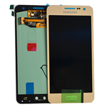 Genuine Samsung SM-A300F Galaxy A3 Complete Display LCD with Touchscreen in Gold- Samsung part no:GH97-16747F